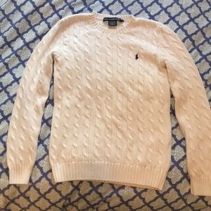 White Ralph Lauren Sport (M) cable knit sweater